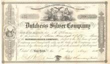 Dutchess Silver Company 1854 - New York
