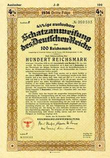 Early Nazi War Bond 1936
