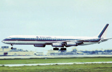 Eastern Airlines postcard Douglas DC-8