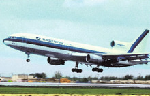 Eastern Airlines postcard Lockheed L-1011
