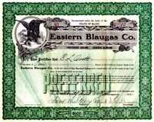 Eastern Blaugas Company 1912