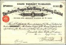 Eastern Oregon Gold Mining Company 1889