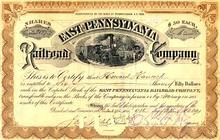 East Pennsylvania Railroad Company 1890's