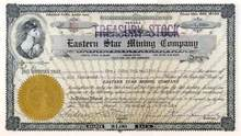 Eastern Star Mining Company 1915 - Nevada
