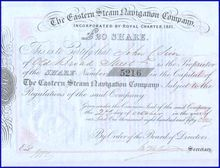 Eastern Steam Navigation Company 1851 - Great Eastern Ship