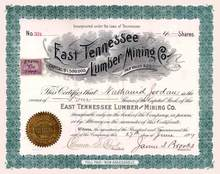 East Tennessee Lumber and Mining Co. 1899