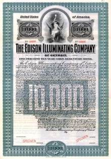 Edison Illuminating Company of Detroit - 1905 ( Early Detroit Edison )