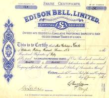 Edison Bell, Limited - 1927 - Early Phonograph Company