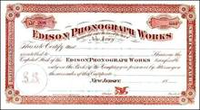 Edison Phonograph Works - New Jersey 1880's