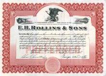 E.H. Rollins & Sons ( Famous Banking House )