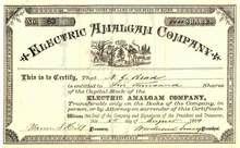 Electric Amalgam Company 1884