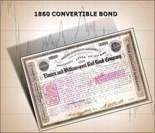 Elmira and Williamsport Rail Road Company 1860 EARLY CONVERTIBLE BOND