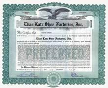 Elias - Katz Shoe Factories, Inc. 1927