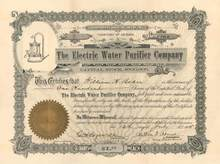 Electric Water Purifier Company - Territory of Arizona - 1905