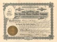 Electric Water Purifier Company - Territory of Arizona - 1905