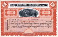 Ely Central Copper Company - Oscar A. Turner as President 1909 - White Pine. Ely, Nevada