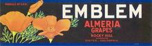 Emblem Almeria Grapes Label