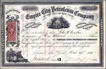 Empire City Petroleum Company 1865 - New York