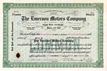 Emerson Motors Company 1916