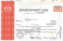 Environment One Corporation