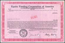 Equity Funding Corporation of America - RARE Fraud Specimen Certificate