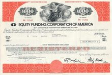 Equity Funding Bond $1,000 Huge Wall Street Scandal 1970s