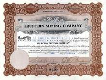 Erupcion Mining Company 1926 - New Mexico