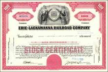 Erie Lackawanna Railroad Company PLUS Postcard