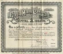 Espana Mining Company - England 1923