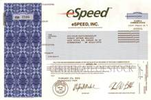 eSpeed, Inc ( Cantor Fitzgerald Company ) Howard W. Lutnick as Chairman