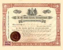E. St. Elmo Lewis Incorporated 1901