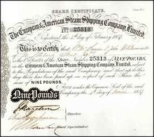 European & American Steam Shipping Company 1857