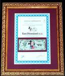 Euro Disneyland Stock Certificate and Millennium Disney Dollar - Framed