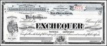 Exchequer Gold and Silver Mining Company 1904 - Storey, Nevada