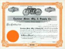 Excelsior Motor, Mfg. & Supply Company ( Super X Motorcycle Vignette )