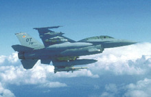 F-16D Fighting Falcon postcard