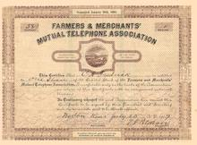 Farmers & Merchants' Mutual Telephone Association Norton, Kansas 1905