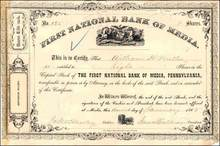 First National Bank of Media, Pennsylvania 1865 - Civil War Era