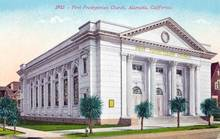 First Prebyterian Church, Alameda, California Postcard