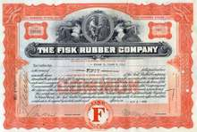 Fisk Rubber Company 1932 (Early US Rubber - Uniroyal Company)