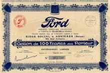 Ford Motor Company 1929 - France