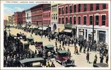 Ford Street Ogdensburg, New York Post Card 1920's