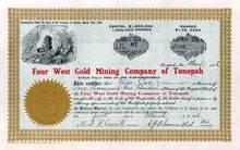 Four West Gold Mining Company of Tonopah 1906 - Territory of Arizona