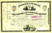Philadelphia City Passenger Railroad 1890's - Horse drawn street car vignette