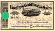 Fuca Strait Coal Mining Co. Limited 1865 - Callam County, Washington Territory