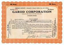 Garod Corporation (Garod Radio Corporation)