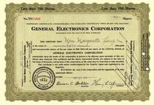 General Electronics Corporation 1933