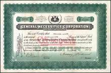 General Necessities Corporation 1928 - Detroit, Michigan