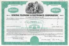 General Telephone & Electronics Corporation GTE - ( Verizon) - $100,000 Bond
