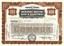 General Water Gas & Electric Company 1933